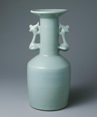 重要文化財 青磁鳳凰耳瓶(砧青磁)
